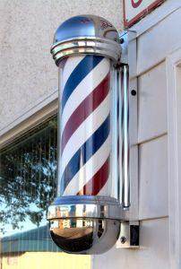 antique barber pole