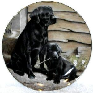 Franklin Mint collector plate Like Father Like Son by Nigel Hemmings