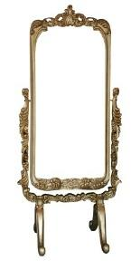 Antique cheval floor mirror