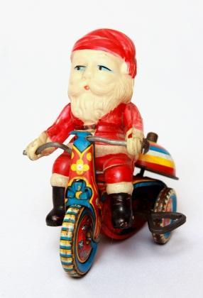 vintage toy santa