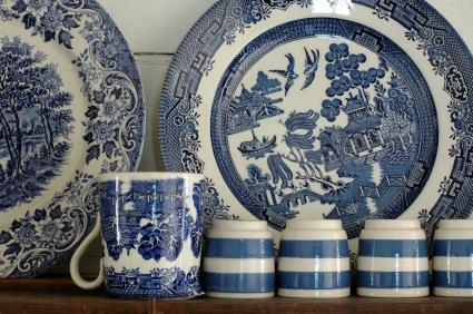& Antique Blue Willow China
