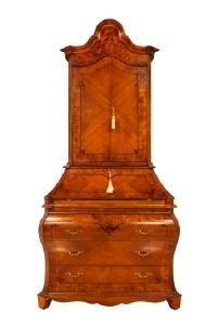 An antique cabinet