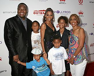 Rodney Peete, Holly Robinson Peete and Family