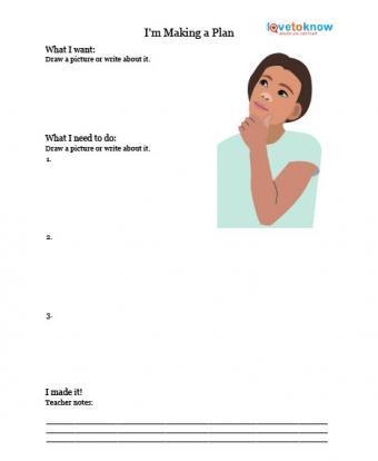 making a plan printable