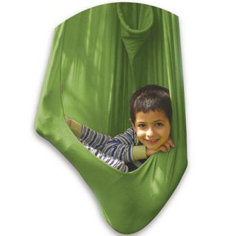 Therapy cuddle swing in green