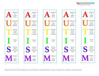 autism bookmark