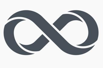 dark grey infinity symbol icon