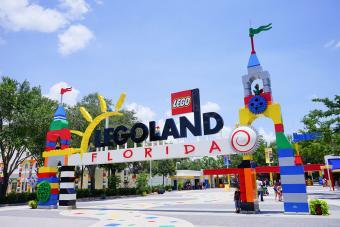 main entrance to Legoland Florida
