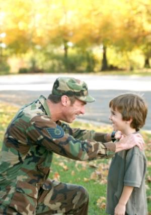 Soldier and son