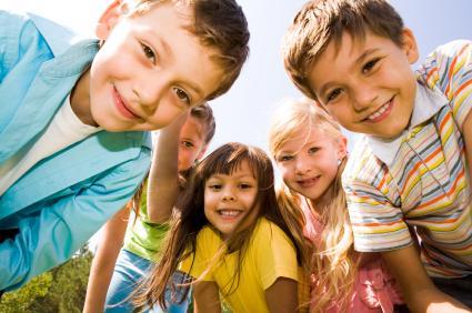 Children smiling for camera