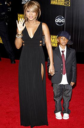 Toni Braxton with son