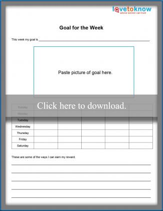Goal for the Week Printable