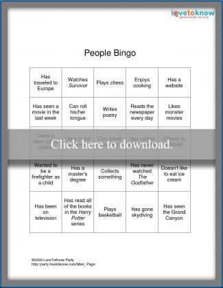 People Bingo