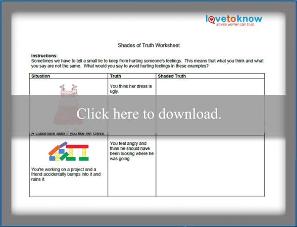 shades of truth worksheet