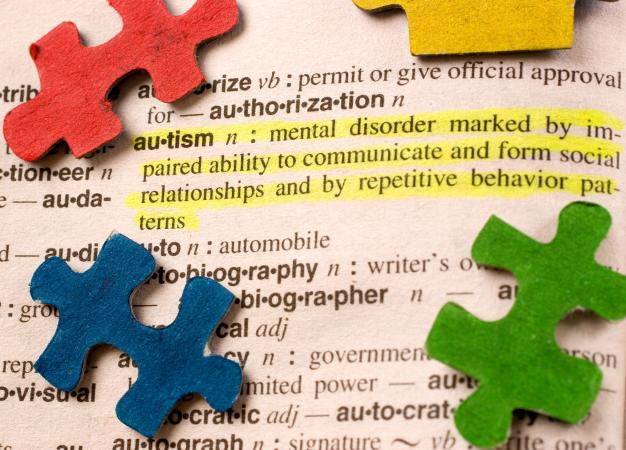 Autism puzzle pieces and definition