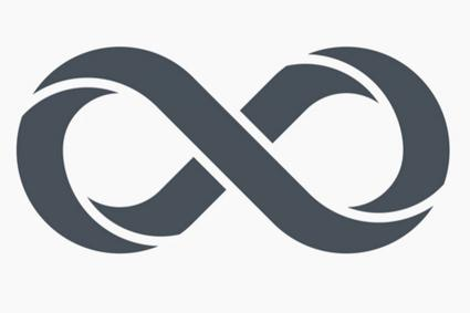 dark grey infinity symbol icon