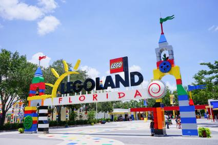 main entrance to Legoland Florida