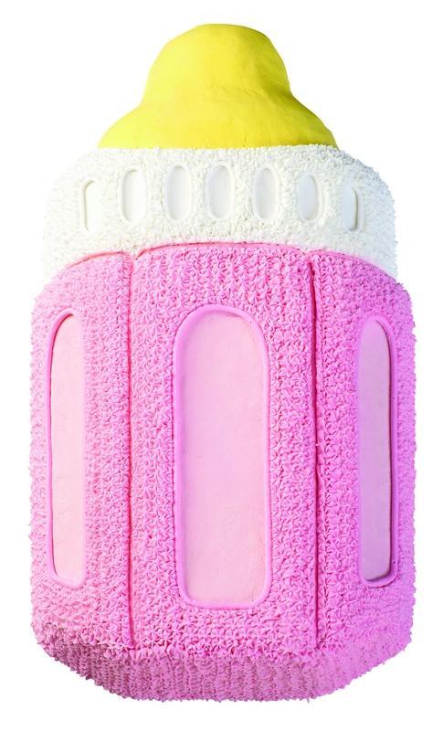 Girls Baby Bottle Cake