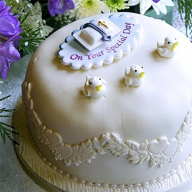 pictures of baptism cakes lovetoknow
