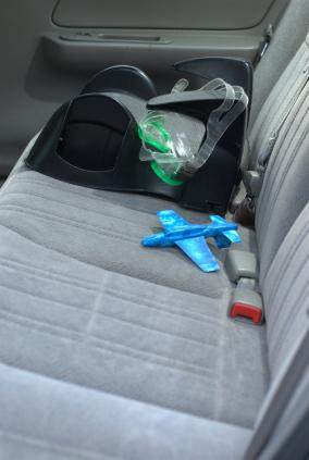Backless booster seat in backseat