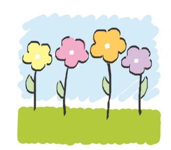 flowers baby clip art