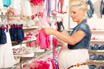 shopping for baby clothing