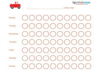 Free truck potty training chart.