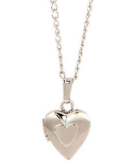 Sterling Silver Baby Heart Locket Necklace