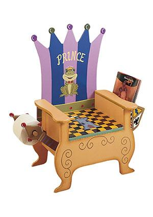 Froggie Prince Wooden Potty Chair