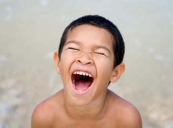 boy laughing hard