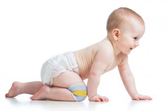 Baby with knee pads
