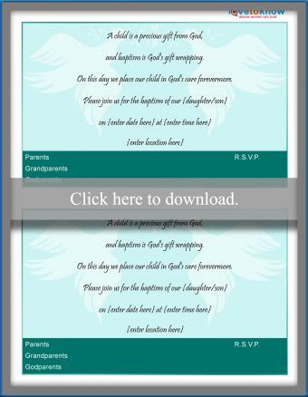 Dove invitation