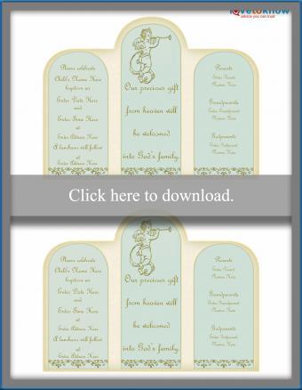 Angel baptism invitation