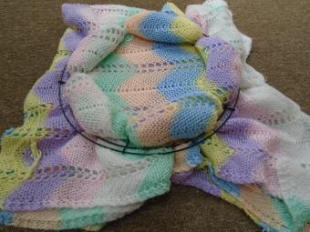 Crochet Blanket Wreath Step 8