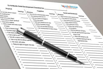 Handy Printable Toddler Development Checklist
