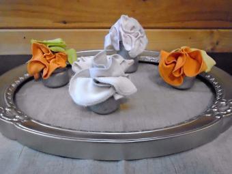 washcloth floral arrangement