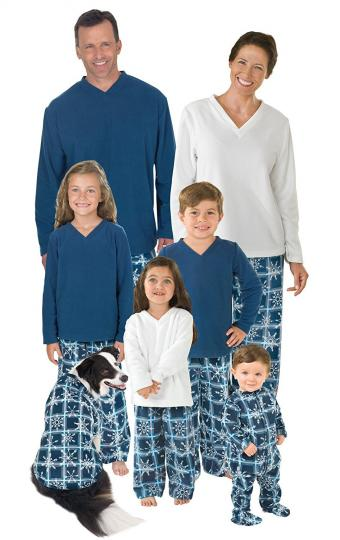 PajamaGram Snowflake Fleece Matching Family Pajama Set