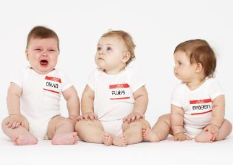 babies with nametags