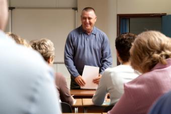 men and women in classroom
