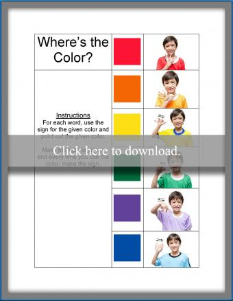 ASL Color Activity for Baby