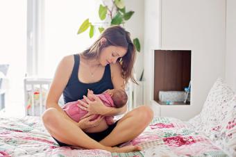 Cradle Hold breastfeeding position