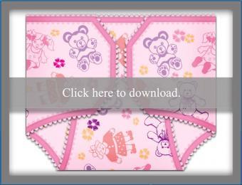 baby girl diaper invite template
