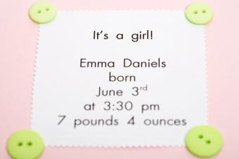 Birth Announcement Wording Ideas for Every Family