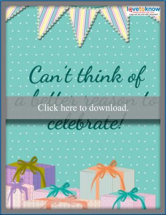 Pennant Baby Shower Card