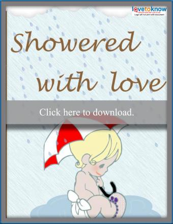 Rain Showers Baby Shower Card