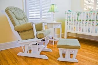 Glider rocker chair in nursery