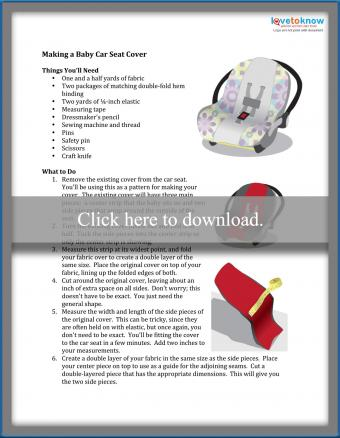 How To Make A Baby Car Seat Cover, Car Seat Cover Pattern With Elastic