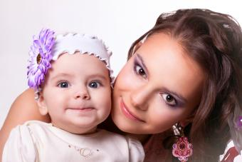 Mother with daughter funny smiling