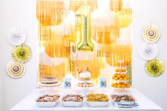 Food Buffet for a Birthday Party