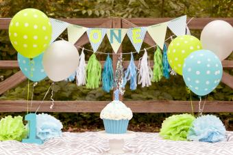 First Birthday scene for a child turning one